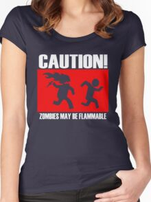 Zombies Flammable Women's Fitted Scoop T-Shirt
