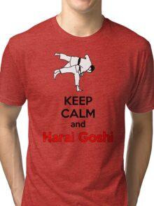 Keep Calm HARAI GOSHI! Tri-blend T-Shirt