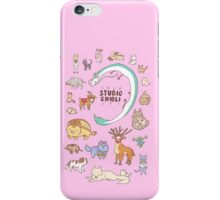 Animals of Studio Ghibli iPhone Case/Skin