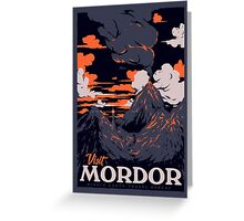 Visit Mordor Greeting Card