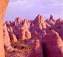 Colorful Rock Formations (Arches Nat'l Park, Utah, USA) by SteveOhlsen