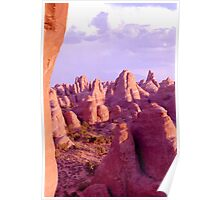 Colorful Rock Formations (Arches Nat'l Park, Utah, USA) Poster