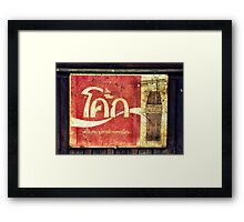 Coca Cola In Any Language Framed Print