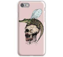 Crocodile skull fly iPhone Case/Skin