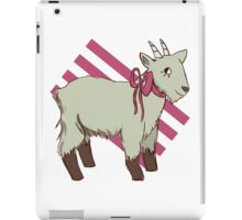 goat bow iPad Case/Skin