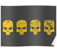 Payday 2 DeathWish Skulls Poster