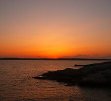 Sunken Sun Pemaquid Maine by KiraMarie