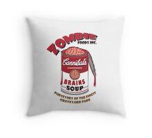 Zombie Brains Soup Throw Pillow