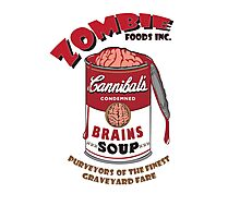 Zombie Brains Soup Photographic Print