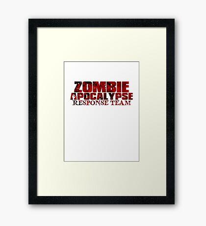 Zombie Apocalypse Team Framed Print