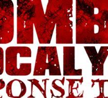 Zombie Apocalypse Team Sticker