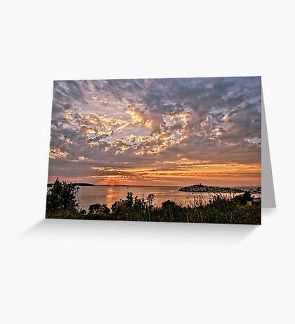 Croatian Sunset Greeting Card
