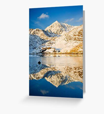 Snowdon, Winter. Greeting Card