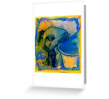 After the Bath /after Degas Greeting Card