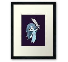 Spooky Holding Knife Framed Print