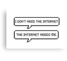 internet addict Canvas Print