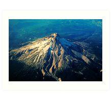Flying above an Oregon Landscape Art Print
