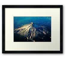Flying above an Oregon Landscape Framed Print
