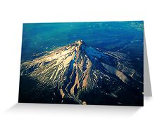 Flying above an Oregon Landscape Greeting Card