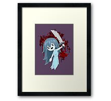 Spooky Holding Knife Bloody Framed Print