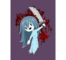 Spooky Holding Knife Bloody Photographic Print