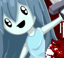 Spooky Holding Knife Bloody Sticker