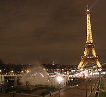 Fountains by the Eiffel Tower by Elena Skvortsova