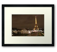 Fountains by the Eiffel Tower Framed Print