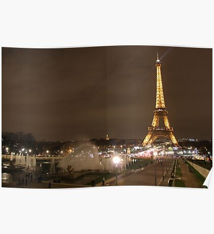 Fountains by the Eiffel Tower Poster