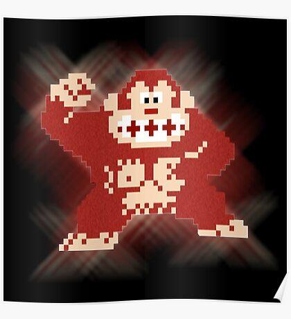 8bit Donkey Kong Poster