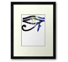 Kid Cudi Galaxy [Blue] | Eye of Ra [Eye of Horus] Framed Print