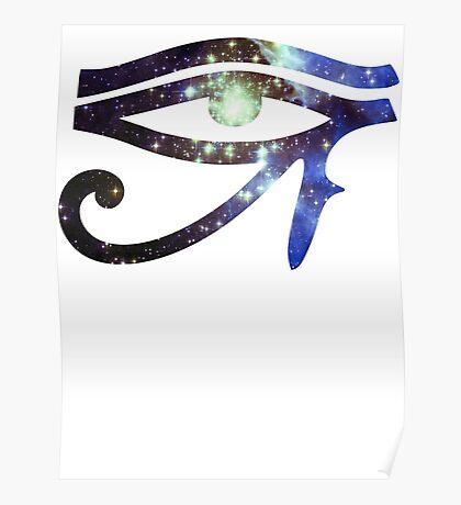 Kid Cudi Galaxy [Blue]   Eye of Ra [Eye of Horus] Poster