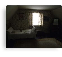 Dark cottage bedroom Canvas Print