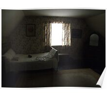 Dark cottage bedroom Poster