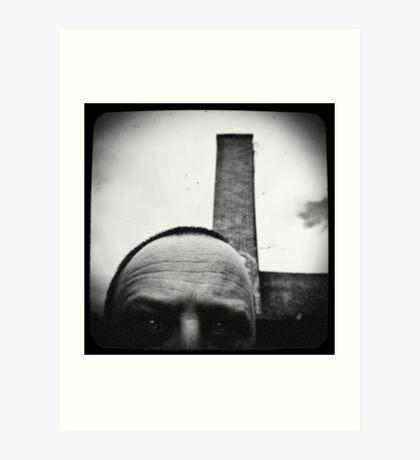 Self with a smoke stack. Art Print