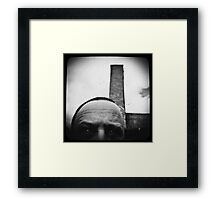 Self with a smoke stack. Framed Print