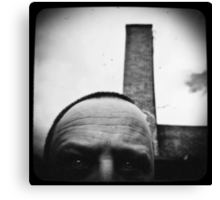 Self with a smoke stack. Canvas Print