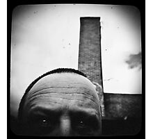 Self with a smoke stack. Photographic Print