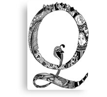 Monogram Letter Q Canvas Print
