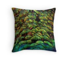 Colours of a Peacock Throw Pillow