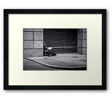 The seldom told story of One Down @londonlights Framed Print
