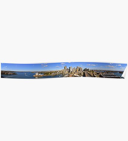 """Sydney Harbour Panorama 70"""" x 10"""" 20 images Poster"""