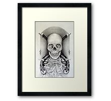 the weight of their action's (drawing of a drawing) Framed Print