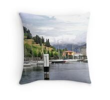 The Lake and Mainland painted Throw Pillow