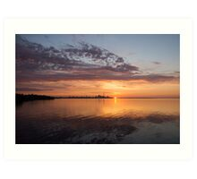 My World This Morning - Toronto Skyline at Sunrise Art Print