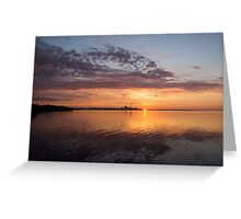 My World This Morning - Toronto Skyline at Sunrise Greeting Card