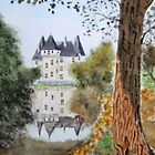 Perigord Blanc. ( Watercolour ) by Irene  Burdell
