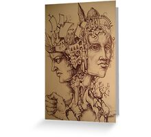 Greek God Janus Greeting Card