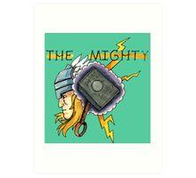 The Mighty Thor Tattoo Flash Art Print