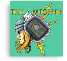The Mighty Thor Tattoo Flash Canvas Print